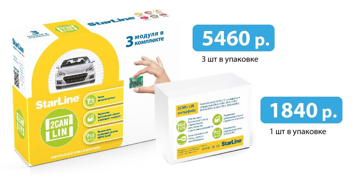 картинка 2CAN+LIN модуль StarLine 2CAN+LIN-Мастер (1 модуль) от магазина Ритмобиль